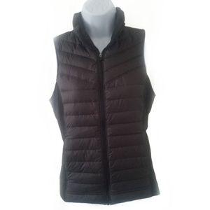Lucy black puffer vest